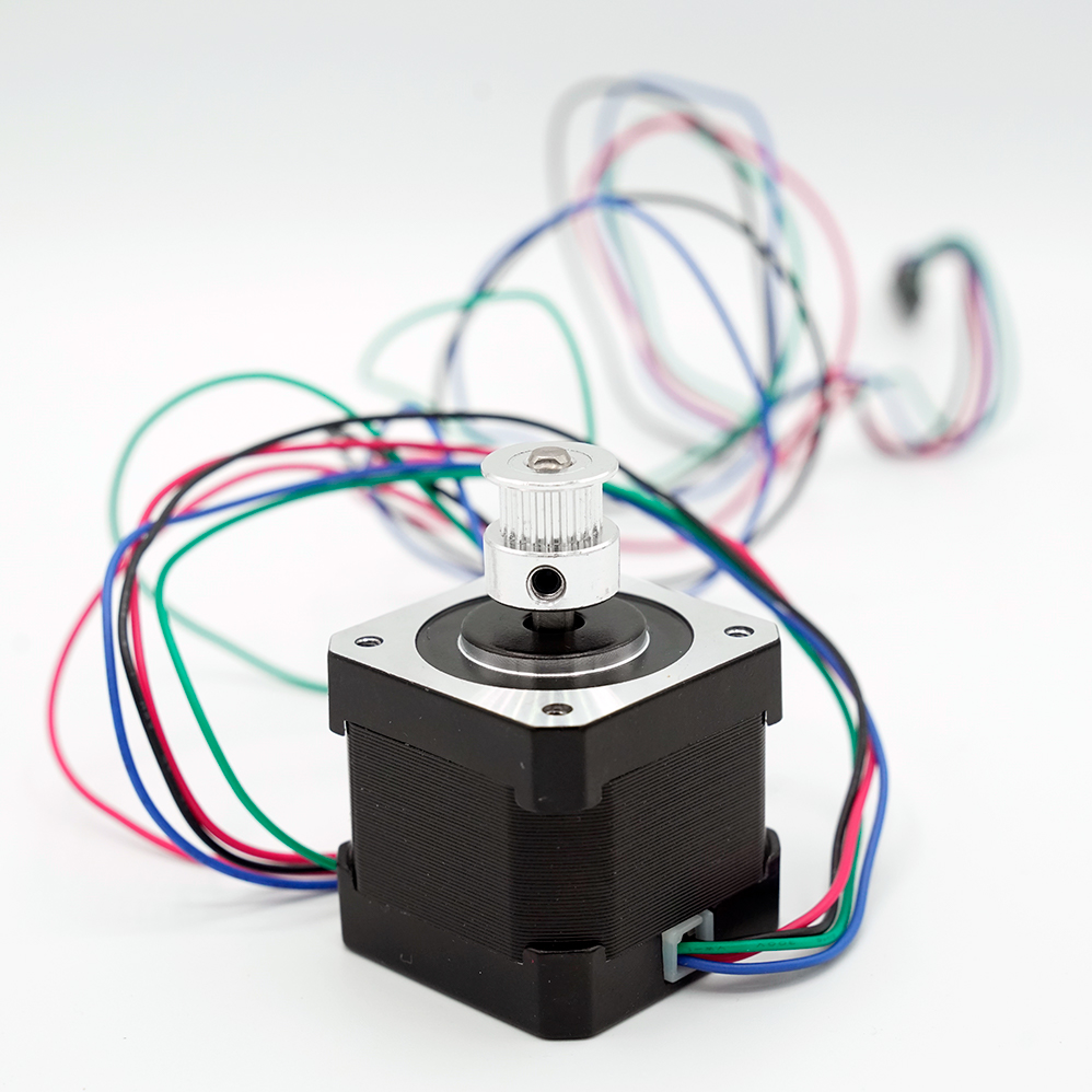 Pulley on a stepper motor
